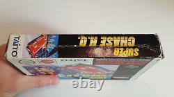 Super Chase Hq Pal Dans Acrylglasbox Super Nintendo Snes Original