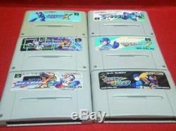 Super Famicom Rockman X X2 X3 7 Forte Soccer Set Megaman Japon Snes Sfc