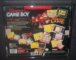 Super Gameboy (snes, 1994) Usine Tres Rare Scellé Big Box (adaptateur Game Boy)