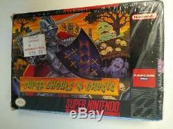 Super Ghouls'n Ghosts Complète Dans La Boîte Snes Super Nintendo Cib Partiellement Scellé