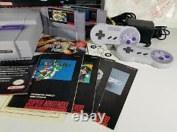 Super Mario All Stars Set Super Nintendo Snes Console Système Complet Cib