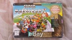 Super Mario Kart Super Nintendo Entertainment System Snes New Scellé En Usine