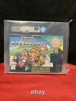 Super Mario Kart Super Nintendo Snes Nouveau Scellé Près De Mint Vga 80 + Silver Level