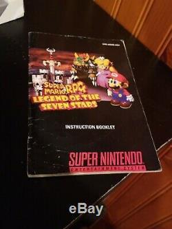 Super Mario Rpg Legend Of The Seven Stars Super Nintendo Snes Authentiques