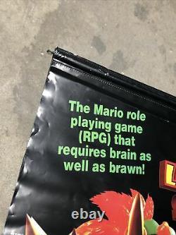 Super Mario Rpg Légende Des Sept Étoiles Rare Promo Banner Super Nintendo Snes