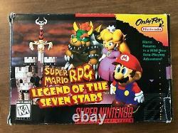 Super Mario Rpg (super Nintendo Snes) Cib Complète Avec Affiche + Cartes Ex