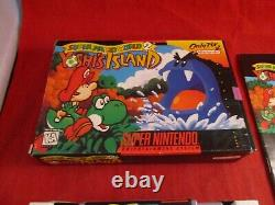 Super Mario World 2 Yoshi Island (super Nintendo Snes 1995) Avec La Boîte De Complet Y