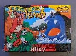 Super Mario World 2 Yoshi's Island Snes (super Nintendo, 1995) Cib Complet