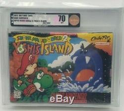 Super Mario World 2 Yoshis Île Super Nintendo Snes Nes H-seam Vga 70 Nouveau Rare
