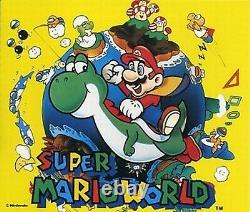 Super Mario World CD Soundtrack Super Nintendo Snes Japon Utilisé