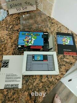 Super Mario World Première Edition (super Nintendo Snes) Complet Cib Authentic