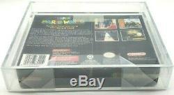 Super Mario World Super Nintendo Snes Vga Argent 85 H-couture Nouvelle Usine Seal Mint