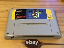 Super Mario World (snes) Pal-super Nintendo Complete Yellow Uk Box -testé