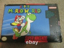 Super Mario World (super Nintendo Snes) Cib Complète Avec 2 Magazines + Affiches