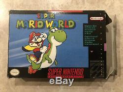 Super Mario World (super Nintendo) Snes Complète Dans L'encadré Cib Black Label