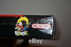 Super Mario World (super Nintendo Snes) Nouveau Etanche V-seam De La Première Impression, Très Rare