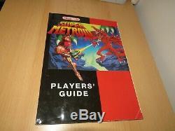 Super Metroid Big Box Boxed & Manual Vgc Jeu Super Nintendo Snes Pal
