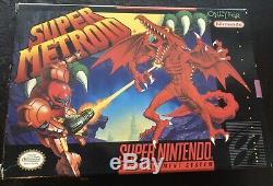Super Metroid Complete In Box Vg (super Nintendo Entertainment System, 1994)