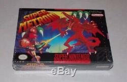 Super Metroid Super Nintendo Snes 1st Imprimer Tout Neuf Super Rare Scellé En Usine