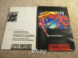 Super Metroid (super Nintendo Snes) Cib Complet Avec Affiches + Ads Collector