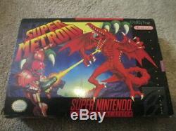 Super Metroid (super Nintendo Snes) Cib Complète Avec L'affiche + Annonces
