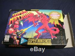 Super Metroid (super Nintendo Snes) Complete Cib Etat Quasi Parfait