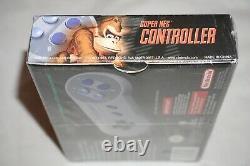 Super Nes Controller (super Nintendo Snes) Nouvelle Usine Scellée Près De Mint Officiel