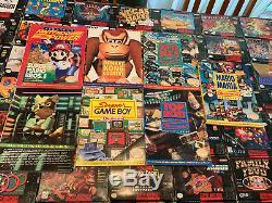 Super Nes Nintendo Snes Huge Lot 61 Bfi Jeux Vidéo Complète, 4 Quasi-cib, Guides