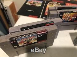 Super Nintendo 8 Jeu Lot Withmanuals + Snes Système