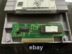 Super Nintendo Burn-in Test Cartridge Snes Contrôleur / Super Portée / Rare De Souris