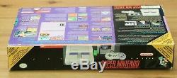 Super Nintendo Console Complète En Boîte Snes Rare 3 Jeux Mario F-zero