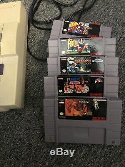 Super Nintendo Console Originale Retro Snes 6 Jeux Roi Lion Combat De Base-ball