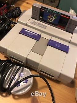 Super Nintendo Console Snes Super Mario World Set 100% Complete Works Box