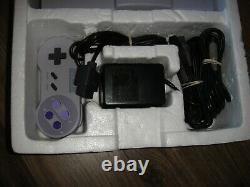 Super Nintendo Console (complete In Box) Snes Cib Super Nes Control Set