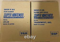 Super Nintendo Entertainment System Pal Combined Run Sabre Super Off Road Scellé
