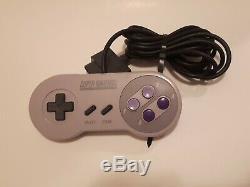 Super Nintendo Entertainment System Set Snes Nes Contrôle Dans L'encadré Testée Works