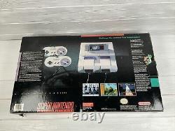 Super Nintendo Entertainment System Snes Launch Console Cib Boxed Box