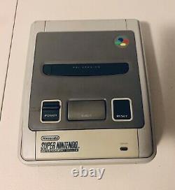 Super Nintendo Jeu Console + 2 Contrôleurs Vendeur Rénové Snes Nes Grey