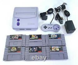 Super Nintendo Mini Jr Snes Sns-101 Console Video Game System W Games Bundle