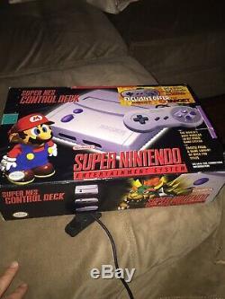 Super Nintendo Nes Control Deck Dans Super Mario Bros Complete Box Cib