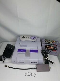 Super Nintendo Origional Consol, Cordes, Et Le Contrôleur Donkey Kong Snes Testés
