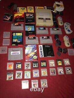 Super Nintendo Snes Authentique Gameboy Bundle Lot