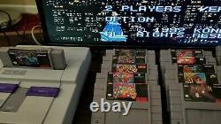 Super Nintendo Snes Avec Des Jeux Difficiles À Trouver! Tous Originaux