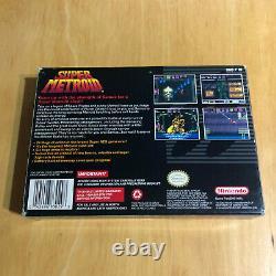 Super Nintendo / Snes Boxed Ntsc Super Metroid Complet Vgc