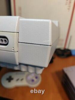 Super Nintendo Snes Console Bundle With4 Games-mario Toutes Les Étoiles Et 2 Contrôleurs