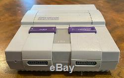 Super Nintendo Snes Console Complète Nettoyé / Sanitized Livraison Gratuite