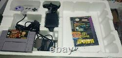 Super Nintendo Snes Console Donkey Kong Country Set In Box Tested Matching Seria