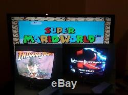Super Nintendo Snes Console Lot Cib Jeux Mario Jones Indiana Vg Instinct Killer