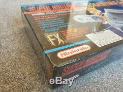 Super Nintendo Snes Console Starwing Étanche Marque New Uk Pal Collector Très Rare