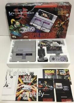 Super Nintendo Snes Console System Box Boxed Complete + Killer Instinct Matching
